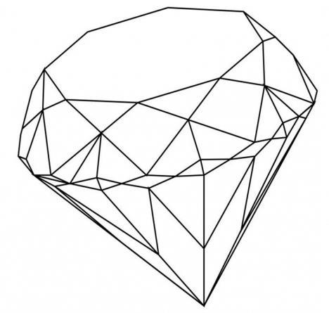 как нарисовать алмаз карандашом поэтапно