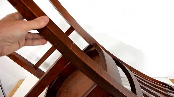 как отреставрировать ножку стула