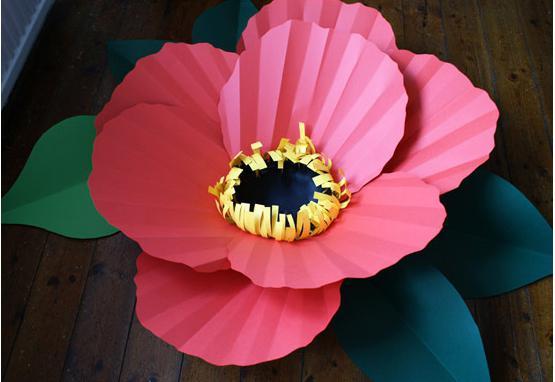 мастер класс большие цветы из бумаги