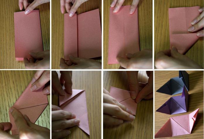 оригами коробочка с сюрпризом