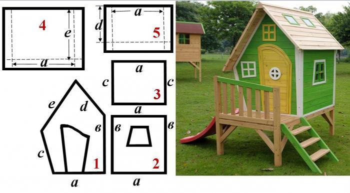 деревянный домик для детей своими руками чертежи