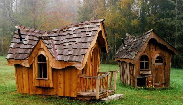 детский деревянный домик для детей