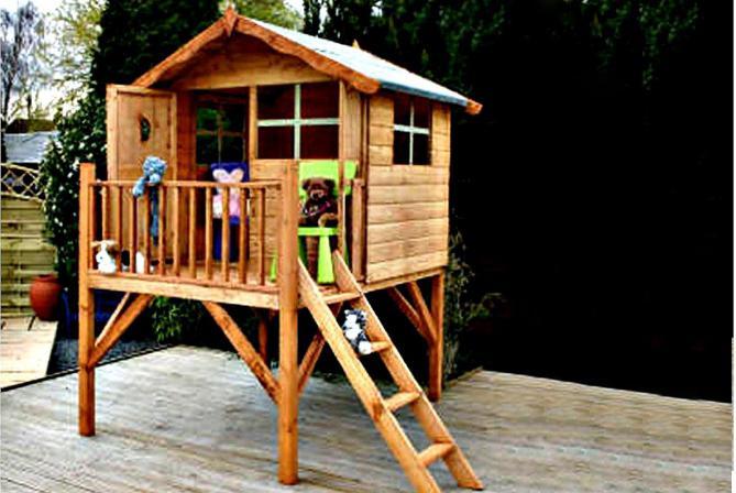 деревянный домик для ребенка