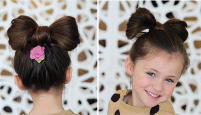 простые прически для маленьких девочек на каждый день пошагово