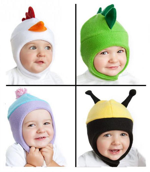 выкройка детской шапки из флиса