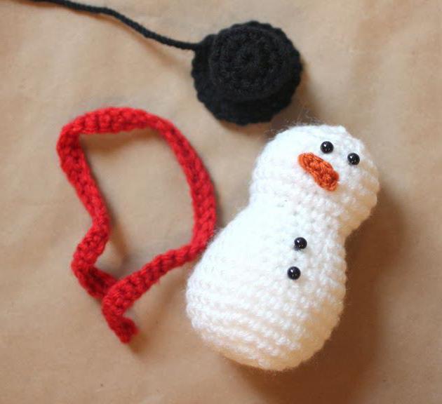снеговики крючком схемы