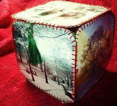 выкройка шкатулки из открыток своими руками