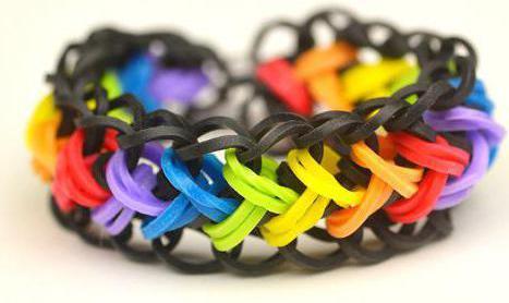 браслеты из резинок на рогатке коса