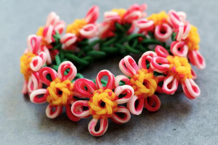 виды плетения браслетов из резинок на станке