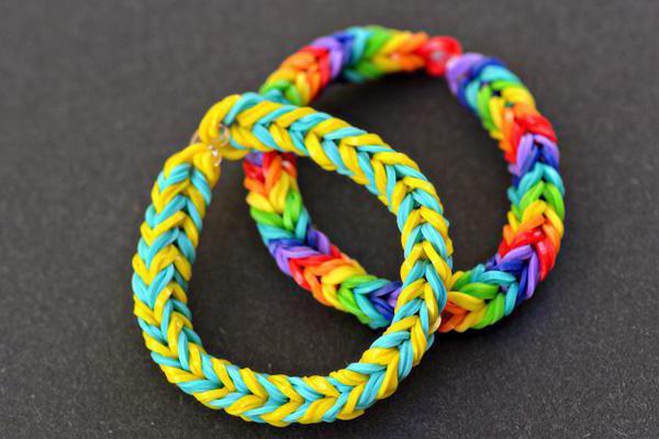 виды плетения браслетов из резинок фото