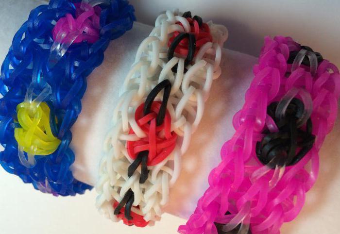 виды плетения браслетов из резинок