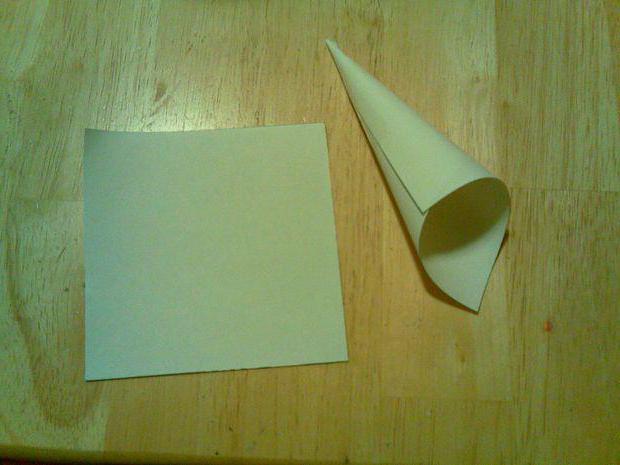как сделать конус из бумаги для елки фото