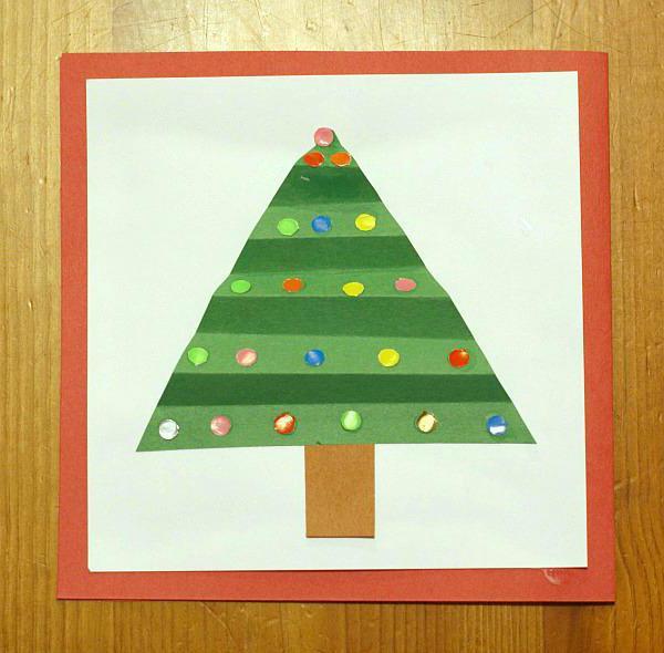 объемная новогодняя открытка своими руками для детей