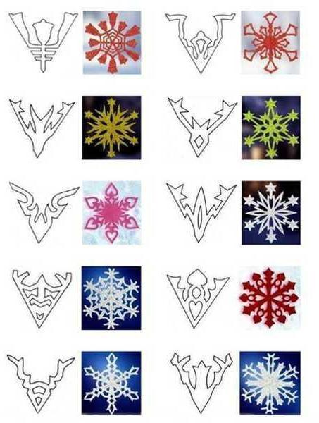 Как вырезать красивые снежинки из бумаги своими руками 70