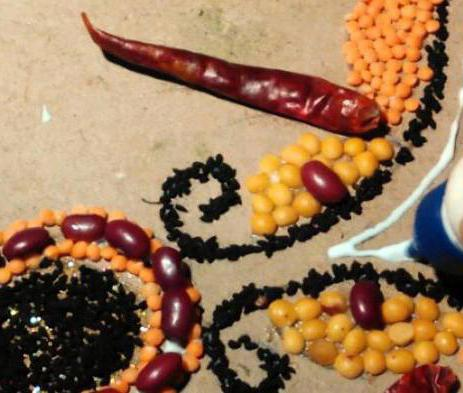поделки из крупы на тему осень пошагово