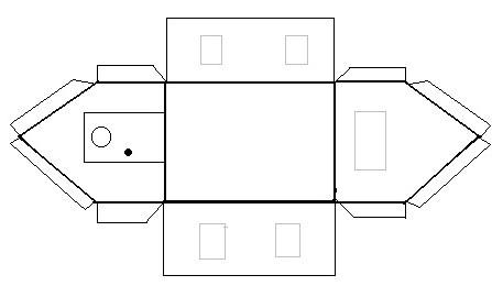 домик из картона схема