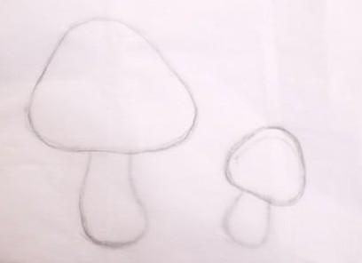 аппликация грибы шаблоны