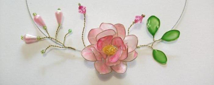 цветок из проволоки и лака