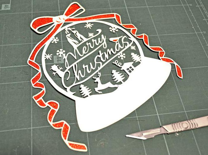 ажурное вырезание из бумаги схемы новогодние