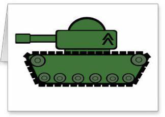 аппликация танк из бумаги