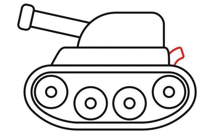 шаблон танка для аппликации