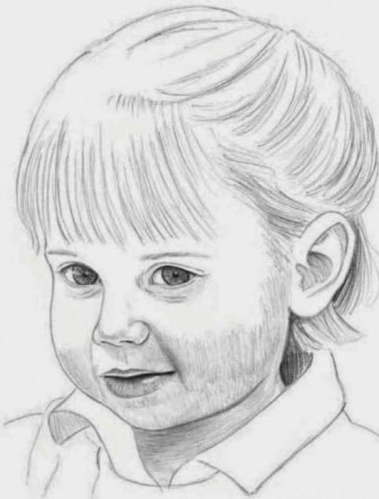 техники рисования карандашом портрет