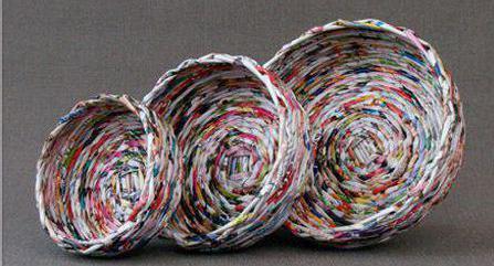чем лучше красить газетные трубочки для плетения
