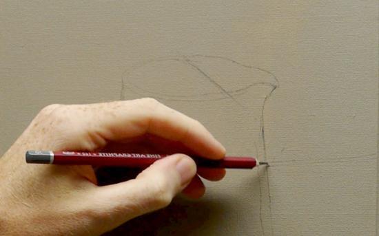 как нарисовать кувшин карандашом поэтапно