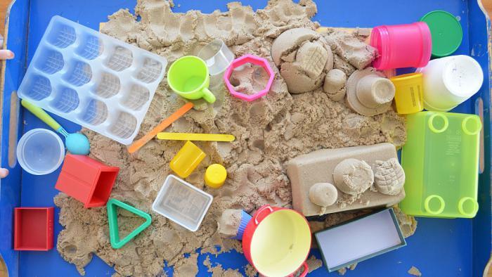 Кинетический песок своими руками сделать