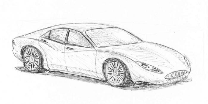 как научится рисовать машины карандашом