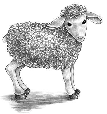 как нарисовать овечку для детей