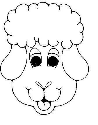 как нарисовать мордочку овечки