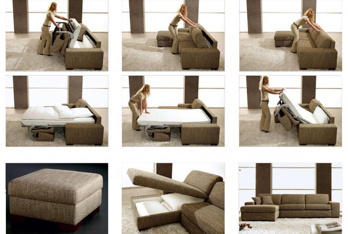 механизмы трансформации диванов аккордеон