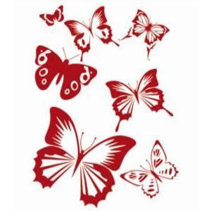 Трафарет бабочки для декора своими руками фото 839