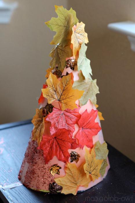 осеннее дерево своими руками из листьев