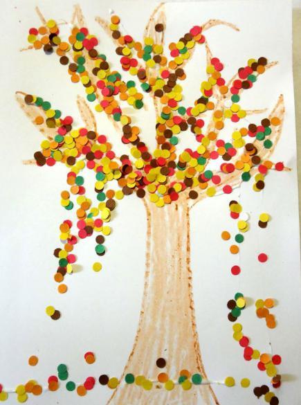 осеннее дерево своими руками для детского сада