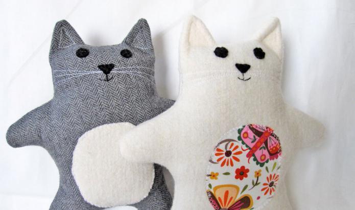Выкройки для игрушек котов своими руками