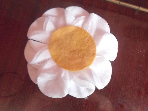 аппликация из ватных дисков цветы