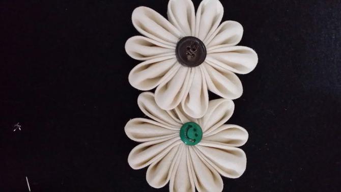 фото цветы из ватных дисков