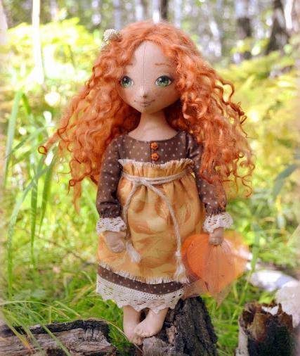 выкройка куклы тыквоголовки с носиком