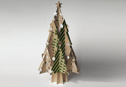 как сделать елку из картона своими руками