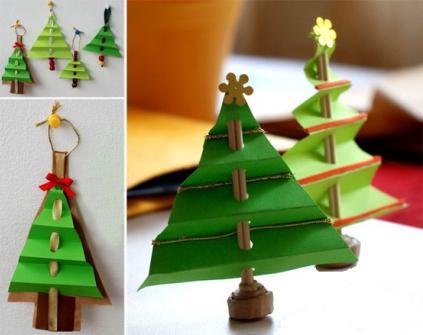 как сделать из картона елку