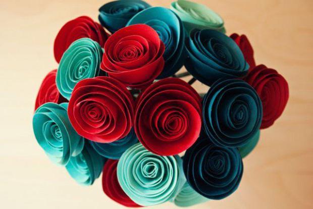 Скрученные цветы из бумаги своими руками