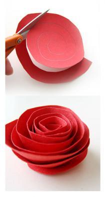 бумажные цветы своими руками из бумаги