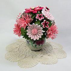 как сделать букет цветов из цветной бумаги