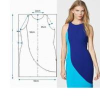 выкройка прямого платья