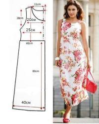 Выкройка длинного платья туники
