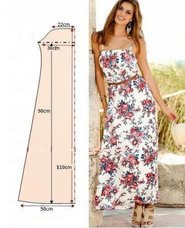 Сшить простое платье на бретельках сшить 383