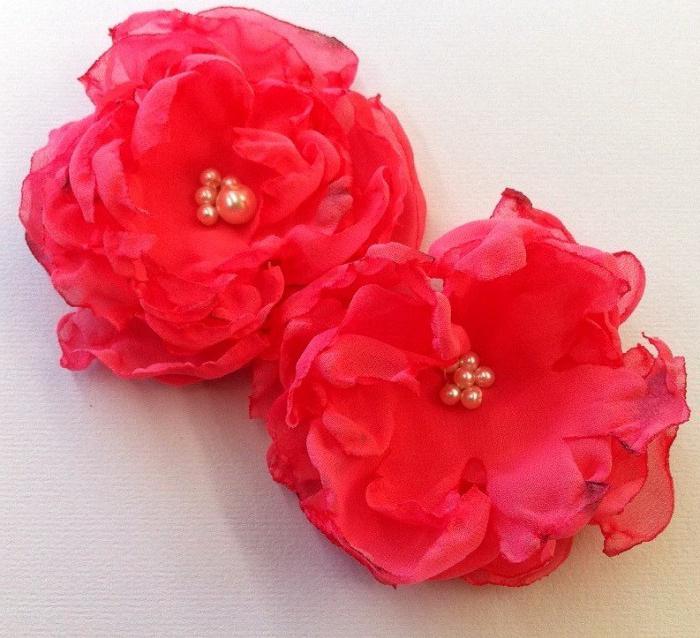 цветы своими руками из шифона