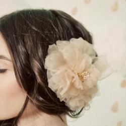 цветок из шифона фото
